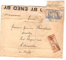 Guerre-Oorlog 14-18 TP 125(2) S/L.recommandée C.Le Havre Spécial V.Kilmacolm Glasgow C.d'arrivée  Censure GB JS250 - Other Zones