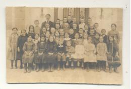 Ecole, Enseignement - Photo Sur Carton ( 9,5 X 15 Cm ) D'une Classe - A SITUER - Personnes Identifiées