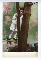 CPA K.F. N° 738 Fillette Costume Chapeau Paysage - Niños