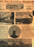 Aus Den Baltischen Landen: Bausk / Artikel,entnommen Aus Zeitschrift /1916 - Livres, BD, Revues