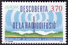 ANDORRE  1994 -  YT  445 -  Radiodiffusion  - NEUF** - Cote 2.25e - Neufs