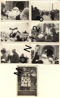 LISIEUX JUILLET 1937 BENEDICTION DE LA BASILIQUE  -7 PHOTOS 9x6 Cms - Plaatsen
