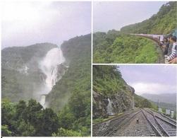 Western Ghats (Indien) - 3-Bild-Karte Mit Eisenbahn - Kunstbauten
