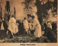 Russische Bittprozession / Druck, Entnommen Aus Zeitschrift /1916 - Livres, BD, Revues