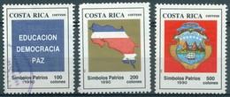 Costa Rica - 1990 - Yt 533/535 - Symboles De La Patrie - 533 Obl. 534/535 ** - Costa Rica