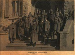 Erzherzog Josef Mit Seinem Stab / Druck, Entnommen Aus Zeitschrift /1916 - Bücher, Zeitschriften, Comics