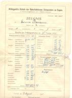 ST. Hildegardis Schule - EUPEN - Bulletin Scolaire - Ecole - Lot De 3 Documents 1923 à 1927 (nod 1) - Diploma & School Reports