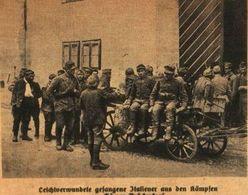 Leichtverwundete Gefangene Italiener Aus Den Kämpfen Am Görzer Brueckenkopf / Druck, Entnommen Aus Zeitschrift /1916 - Livres, BD, Revues