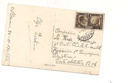 2186) 1941 ALLEANZA 10C ISOLATO CARTOLINA  FIRMA DATA ALCAMO COVER CARABINIERI REALI KOSSOVO PRISTINA - Storia Postale