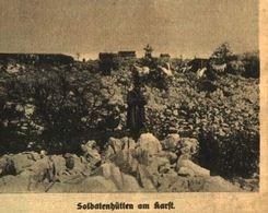 Soldatenhuetten Am Karst / Druck, Entnommen Aus Zeitschrift /1916 - Books, Magazines, Comics