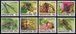 Singapur 1985 - Mi-Nr. 463-470 ** - MNH - Insekten / Insects - Singapour (1959-...)