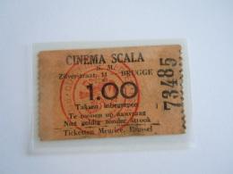 Ticket Brugge Cinema Scala 1936 - Toegangskaarten