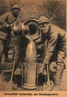 Französische Artilleristen Mit Gasschutzmasken /Druck Aus Zeitschrift /1916 - Books, Magazines, Comics