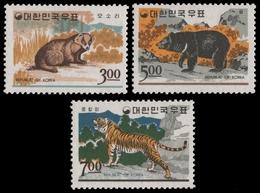 Korea 1966 - Mi-Nr. 567-569 ** - MNH - Wildtiere / Wild Animals - Corée Du Nord