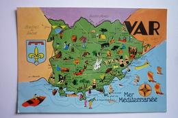 Carte Original Du Departement Du Vard 83 - Carte Geographique ( Circuit Touristique Du Var ) - Otros Municipios