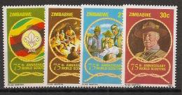 Zimbabwe - 1982 - N°Yv. 39 à 42 - Scoutisme - Neuf Luxe ** / MNH / Postfrisch - Zimbabwe (1980-...)