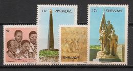Zimbabwe - 1984 - N°Yv. 67 à 70 - Journée Des Héros - Neuf Luxe ** / MNH / Postfrisch - Zimbabwe (1980-...)