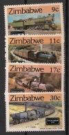 Zimbabwe - 1985 - N°Yv. 77 à 80 - Trains - Neuf Luxe ** / MNH / Postfrisch - Zimbabwe (1980-...)