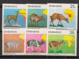 Zimbabwe - 1987 - N°Yv. 142 à 147 - Faune / Céphalophes - Neuf Luxe ** / MNH / Postfrisch - Zimbabwe (1980-...)