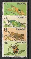Zimbabwe - 1988 - N°Yv. 148 à 151 - Faune / Insectes - Neuf Luxe ** / MNH / Postfrisch - Zimbabwe (1980-...)