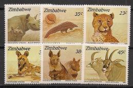 Zimbabwe - 1989 - N°Yv. 186 à 191 - Espèces Menacées - Neuf Luxe ** / MNH / Postfrisch - Zimbabwe (1980-...)