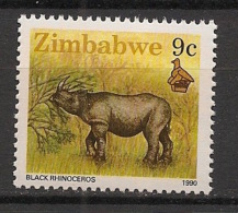 Zimbabwe - 1990 - N°Yv. 197 - Rhinocéros - Neuf Luxe ** / MNH / Postfrisch - Rhinozerosse