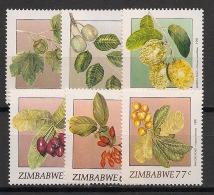 Zimbabwe - 1991 - N°Yv. 234 à 239 - Fruits Indigènes - Neuf Luxe ** / MNH / Postfrisch - Zimbabwe (1980-...)
