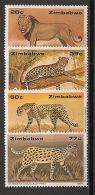 Zimbabwe - 1992 - N°Yv. 246 à 249 - Faune / Félins - Neuf Luxe ** / MNH / Postfrisch - Zimbabwe (1980-...)