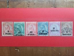 ALBANIA - Francobolli Sovrastampati In Moneta Turca Nn. 41/46 Timbrati/* + Spese Postali - Albania