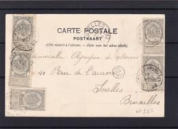 CARTE N° 53 X 5  FOREST LEZ BRUXELLES - 1893-1907 Coat Of Arms