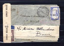 1942    Congo Belge 1942, PA 11 Sur Lettre Censurée - 1923-44: Briefe U. Dokumente
