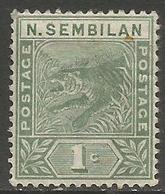 Negri Sembilan - 1891-4 Tiger 1c MH *    SG 2 - Negri Sembilan