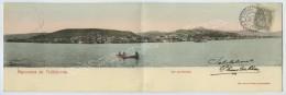 Cachet 1909 Trébizonde Turquie D'Asie / 1c Type Blanc Levant / CP Paroramique 2 Volets Panorama De Trébizonde . - Turquie