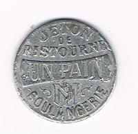 &   OUDE JETON DE RISTOURNE UN PAIN BOULANGERIE - LA MAISON DU PEUPLE BRUXELLES - Monetary / Of Necessity