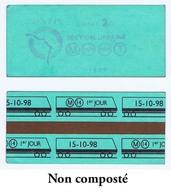 """Tichet  RATP Avec Mention Au Verso """"ligne M 14 Premier Jour 15 Octobre 1998"""". NON COMPOSTÉ - Europe"""