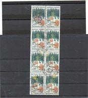 FRANCE   8 Timbres 25 C  Se Tenant     1965   Y&T: 1460    Belles Oblitérations - Used Stamps