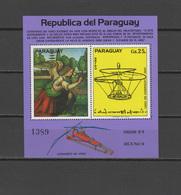 Paraguay 1977 Aviation, Airplanes, Paintings Leonardo Da Vinci S/s MNH - Aviones