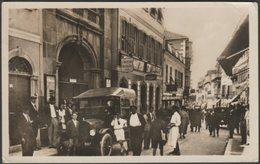 Main Street And Post Office, Gibraltar, C.1932 - Sacarello RP Postcard - Gibilterra
