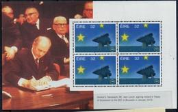PIA -  IRLANDA - 1992 : Entrata In Vigore Del Mercato Unico Europeo -Foglietto Da Carnet -  (YV Bf Con 813 X 4) - Blocchi & Foglietti