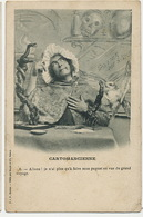 Cartomancienne Tireuse Cartes Homme Travesti Fortune Teller Chouette Serpent Crane Coin Abimé - Métiers