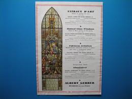 (1929) Vitraux D'Art : ALBERT GERRER à Mulhouse - JEAN GAUDIN à Paris - VOSCH à Montreuil - L. BARILLET à Paris - Old Paper