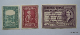 BELGIUM 1956.Birth Bicentenary Of Mozart. OBP 987-89. MI 1036-38. SG 1575-77. MH - België