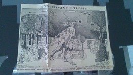 Affiche (dessin) - L'ENLEVEMENT D'EUROPE................ - Affiches