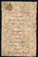 MENU 1893 - 15 X 9.5 CM - 2 SCANS - MONSIEUR GEORGES DELHAISE - Menus