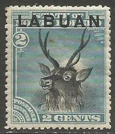 Labuan - 1894 Sambar Stag 2c MH *    SG 63 - North Borneo (...-1963)