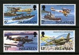 GB ISLE OF MAN IOM - 1978 RAF ANNIVERSARY SET (4V) FINE MNH ** SG 107-110 - Airplanes