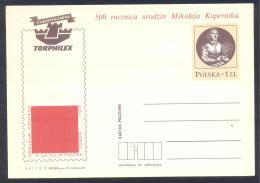Poland 1973 Postal Stationery Card: Nicolay Kopernic; Astronomy ; Space; Physics; - Astronomia
