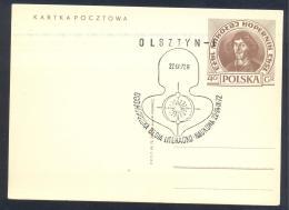 Poland 1973 Postal Stationery Card: Nicolay Kopernic; Astronomy ; Space; Physics; - Astronomy