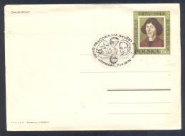Poland 1972 Postal Stationery Cover: Nicolay Kopernic; Astronomy ; Space; Physics; - Astronomy