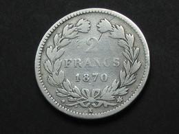 2 Franc CERES  1870  K **** EN ACHAT IMMEDIAT ***** - Francia